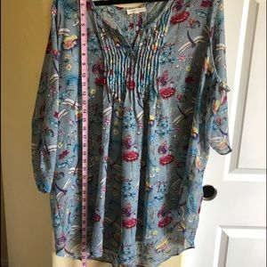 Loralette 3X Beautiful Floral Tunic Peasant NWOT
